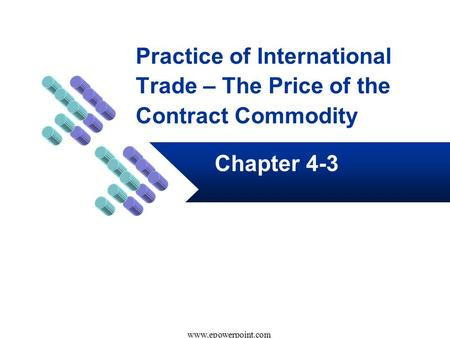 Practice of International Trade – The Price of the Contract Commodity Chapter 4-3 www.epowerpoint.com.