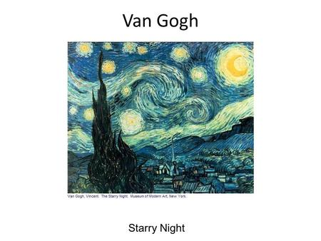 Van Gogh Starry Night. Starry Night is one of the most well known images in modern culture as well as being one of the most replicated and sought after.