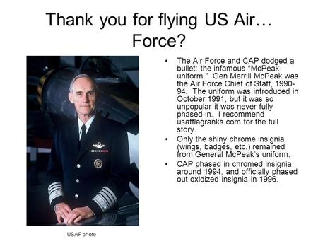 Thank you for flying US Air… Force?