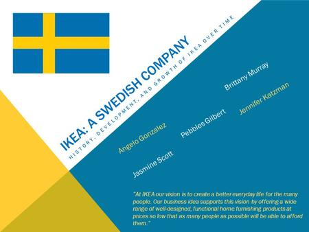 Ikea: a Swedish company