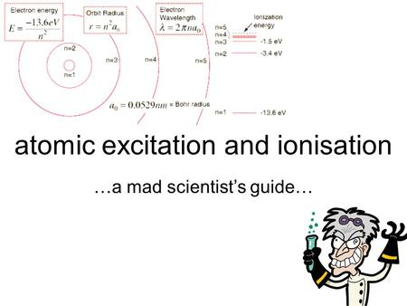 atomic excitation and ionisation
