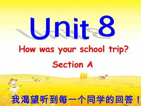 How was your school trip? Section A 我渴望听到每一个同学的回答!