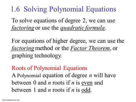 The difference between operations over polynomials and integers