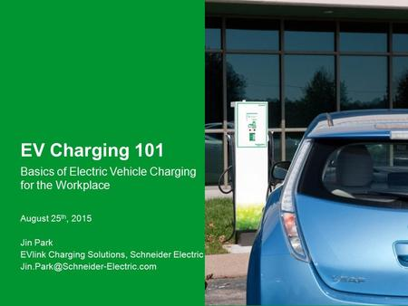 Basics of Electric Vehicle Charging for the Workplace