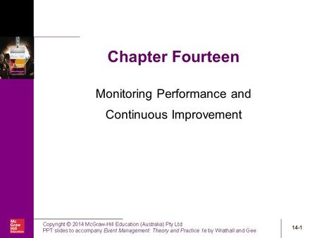 14-1 Chapter Fourteen Monitoring Performance and Continuous Improvement.