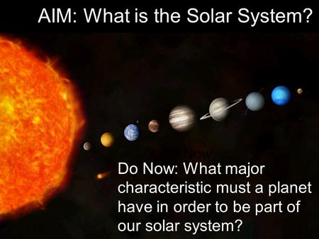 The Planets Amp The Solar System Ppt Download