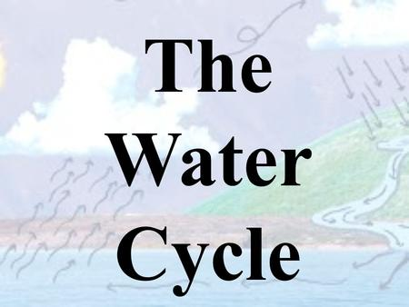 The Water Cycle. Earth's Water Cycle A cycle is a process with no beginning or end. It repeats over and over. Matter moves and changes through cycles,