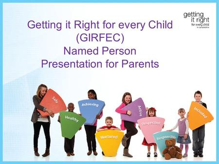 Getting it Right for every Child (GIRFEC) Named Person Presentation for Parents.