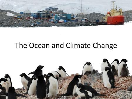 The Ocean and Climate Change. The ocean is full of life Trillions and trillions of life forms.