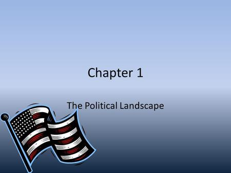 Chapter 1 The Political Landscape. Where can this passage be found? When was it written? We the people of the United States, in Order to form a more perfect.