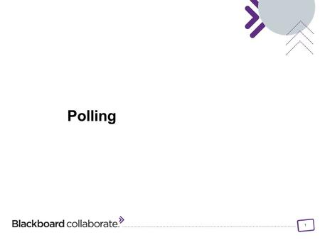 1 Polling. 2 Objectives Change the Polling response options Lock/unlock, hide/show and publish the Polling responses Polling.