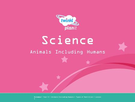 Year One Science | Year 3 | Animals Including Humans | Types of Nutrition | Lesson 1 Animals Including Humans Science.