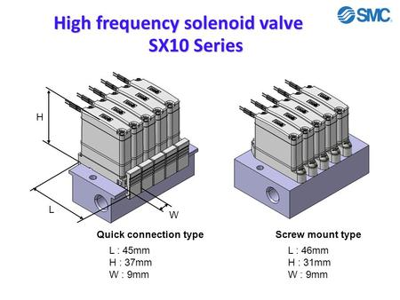 High frequency solenoid valve SX10 Series