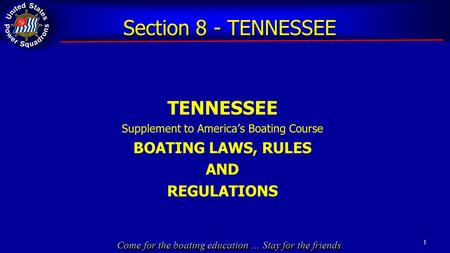 Supplement to America's Boating Course