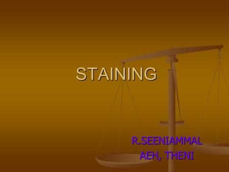 STAINING R.SEENIAMMAL AEH, THENI. PURPOSE TO STAIN THE EPITHELIUM OF THE CORNEA TO SEE TO STAIN THE EPITHELIUM OF THE CORNEA TO SEE FOR THE VIABILITY.