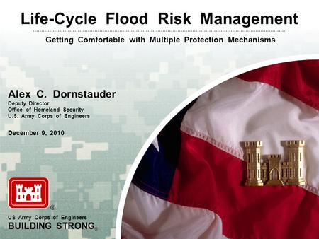Life-Cycle Flood Risk Management