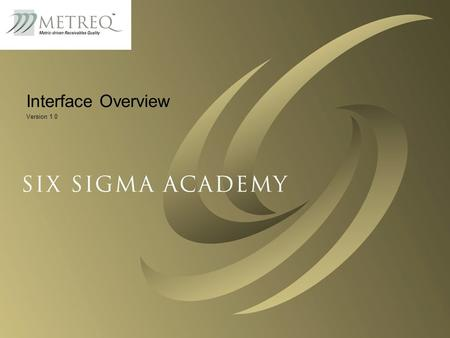 © 2002 Six Sigma Academy and Helix Systems1 Interface Overview Version 1.0.