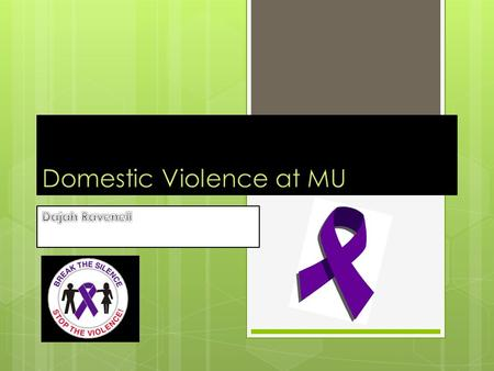 Domestic Violence  There are several different types of abuse or threating violent behaviors such as Physical, Sexual and Discriminatory abuse. It's.