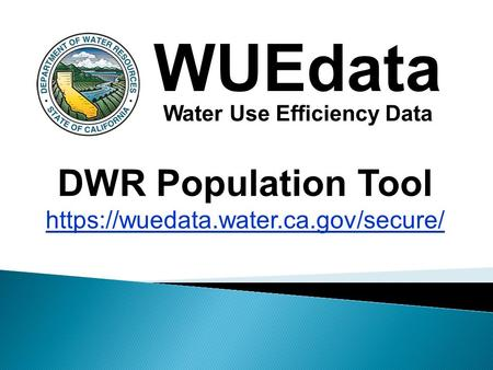 Water Use Efficiency Data