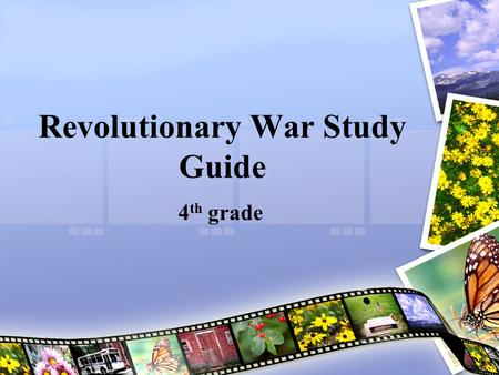 Revolutionary War Study Guide 4 th grade. Militia-a group of citizens trained to serve as soldiers as needed. In 1775, many colonists joined a militia.