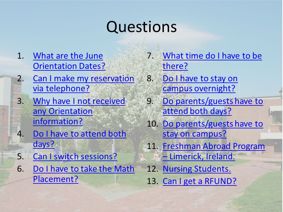 What are the June Orientation dates.