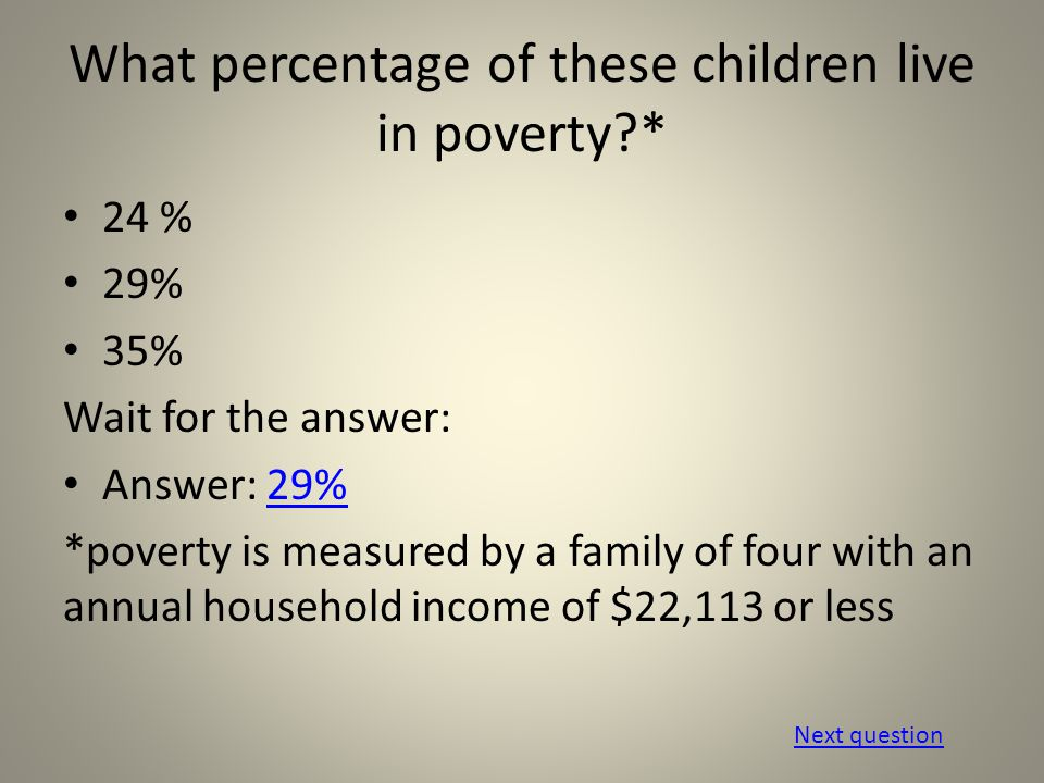 Which of these factors have been statistically proven to positively affect the well-being of low-income children.