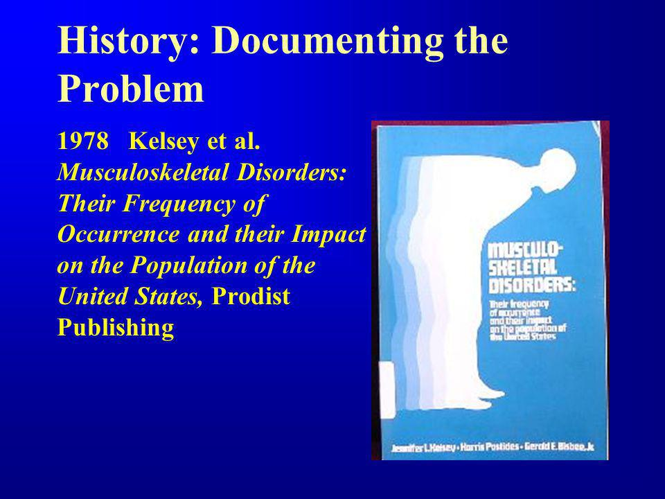 History: Documenting the Problem 1984 Kelsey et al.
