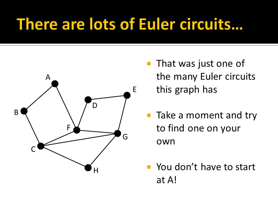 Why does this graph not have an Euler circuit? Why does this graph have an Euler circuit?