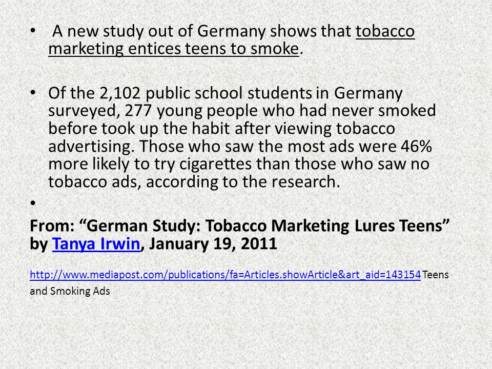 Every year the tobacco industry spends literally, billions of dollars on promotion, sponsorship and advertising.