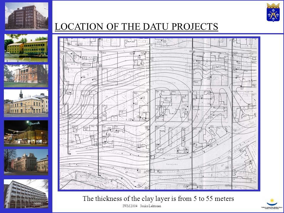 IWM 2004 Jouko Lehtonen INSTALLATION METHODS IN THE DATU PROJECTS Based on 58 projects
