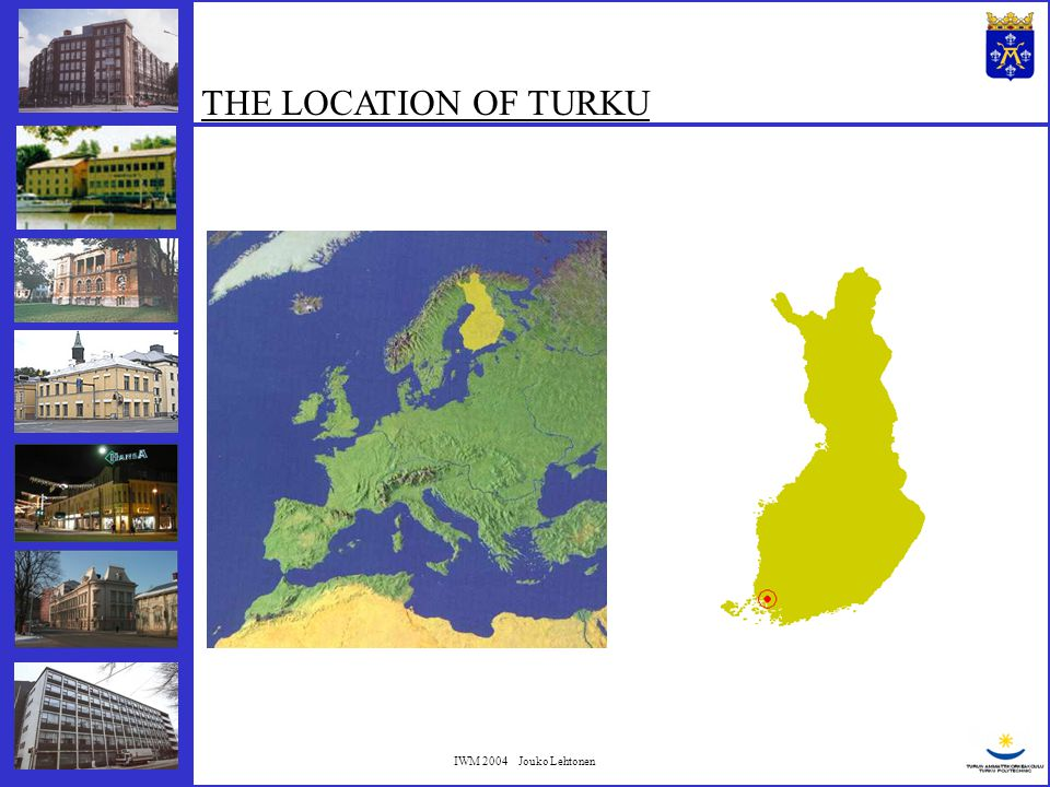 IWM 2004 Jouko Lehtonen OBJECTIVES 2004…2006: To collect a database covering all finished underpinning projects in Turku.