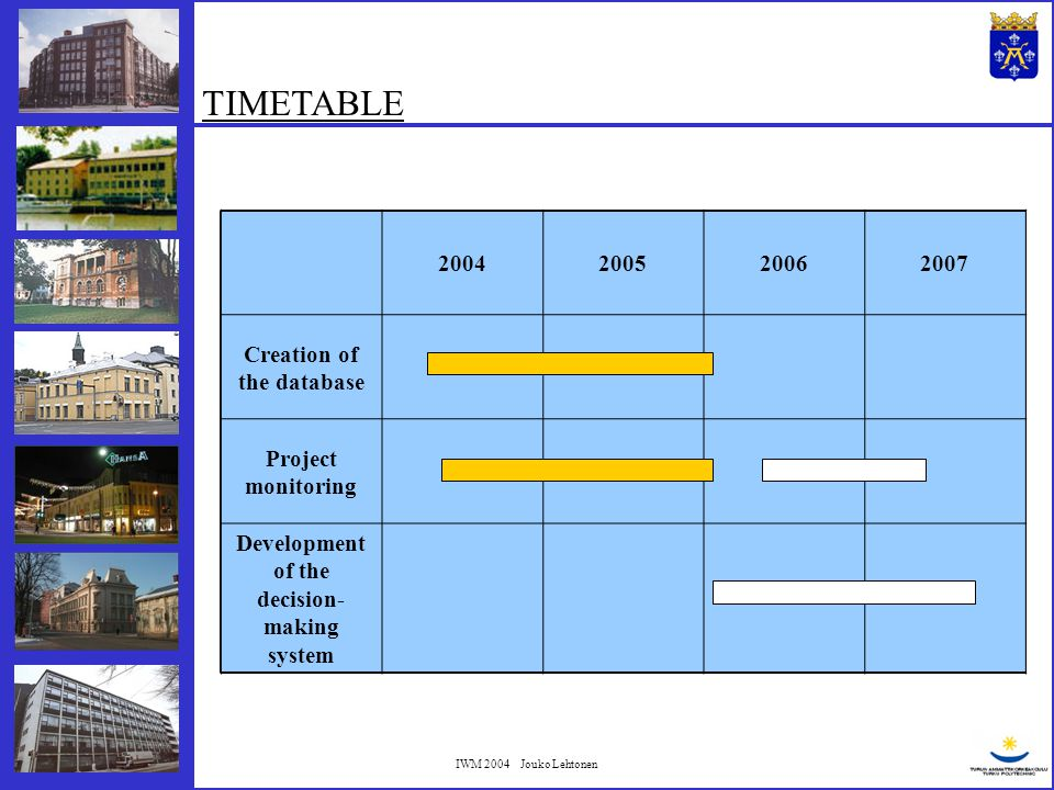 IWM 2004 Jouko Lehtonen Current number of projects: 102 About 5 new projects every year NUMBER OF THE DATU PROJECTS