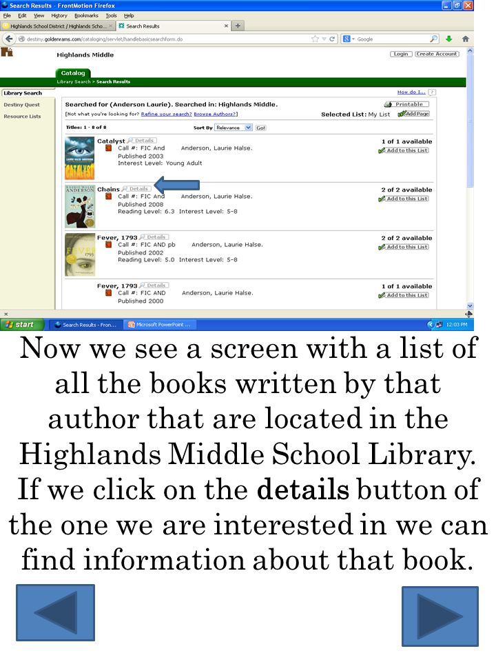 Here are the details for the book Chains which was also written by author Laurie Halse Anderson.