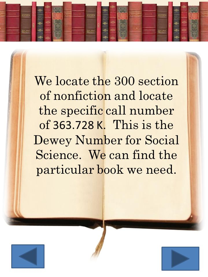 501 Joh Click on the call number for each of the nonfiction library books below to put them on the shelves in the correct order.