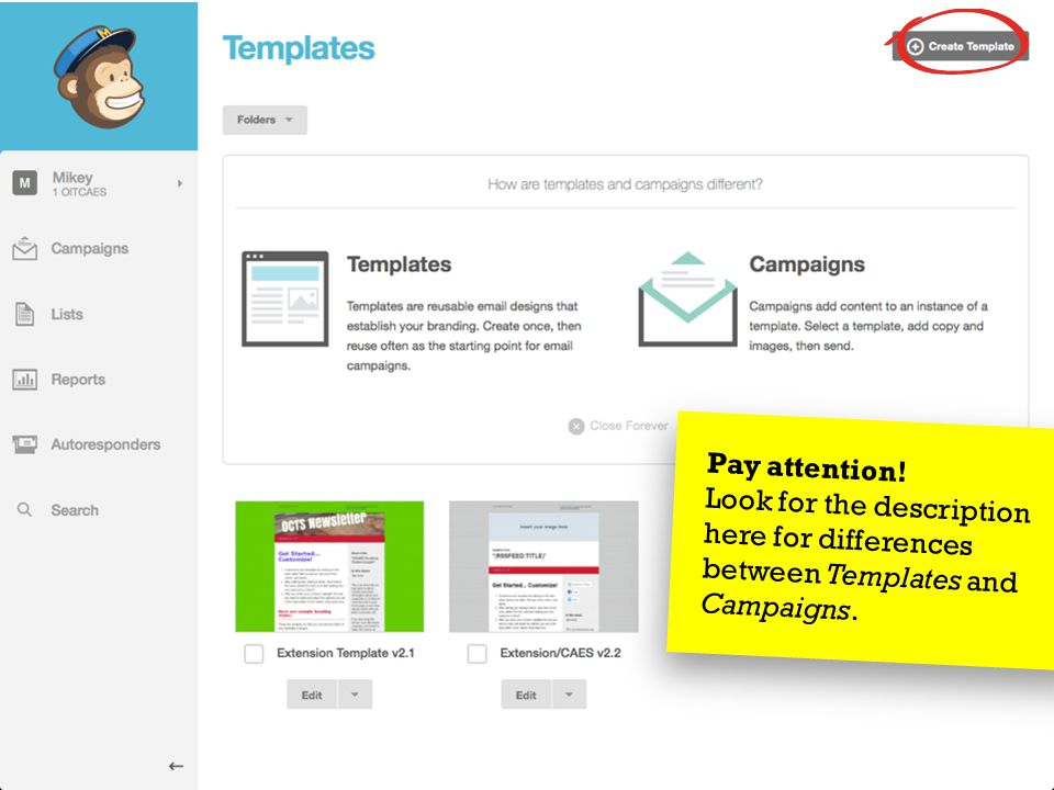 March 27, 2014Send Your Message to the Masses : : Using MailChimp  Choose import option