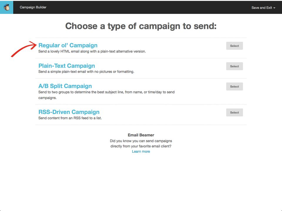 March 27, 2014Send Your Message to the Masses : : Using MailChimp  1.