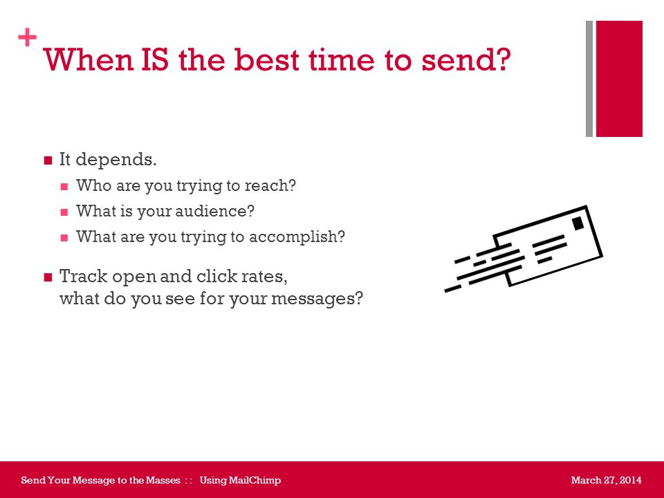 Reporting March 27, 2014Send Your Message to the Masses : : Using MailChimp