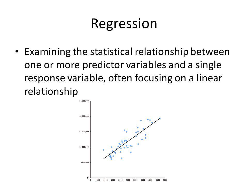Regression: When Might You Use This.