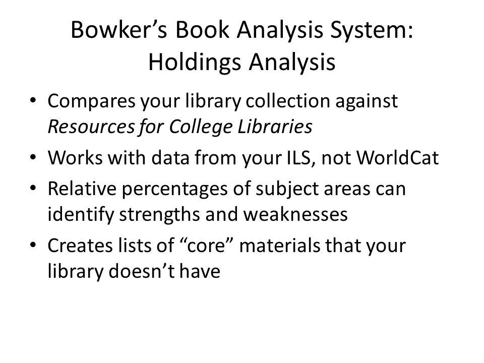 Library Analytics Toolkit Built through funding provided by the Harvard Library Innovation Lab Focused on better decision making through visualization Includes print and e-resource data Code for the Toolkit is freely and publicly available
