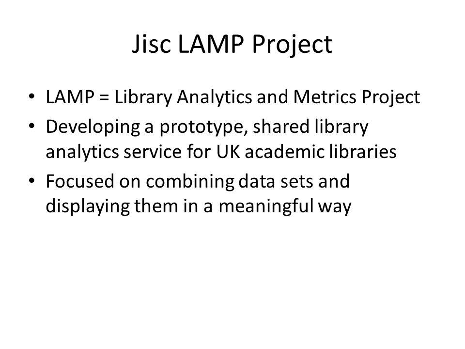 Jisc LAMP Project http://jisclamp.mimas.ac.uk/
