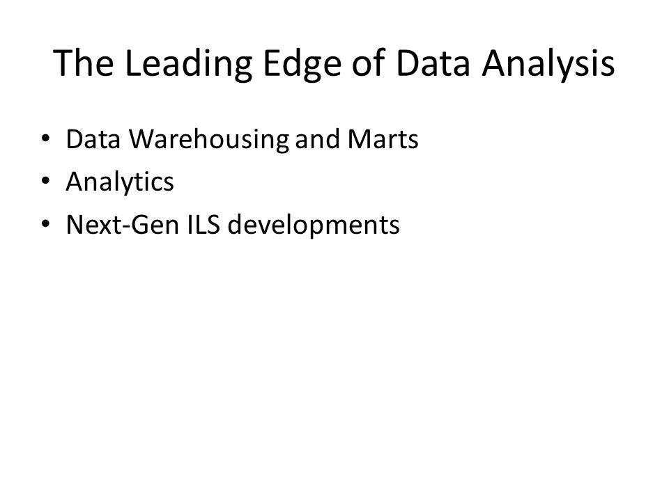 Data Warehousing and Data Marts Conceptualized in the 1960s, data warehousing become popular with businesses in the 1990s A data warehouse is the holistic set of available data, both historical and current A data mart is a subsection of the data warehouse built for a particular reason or audience