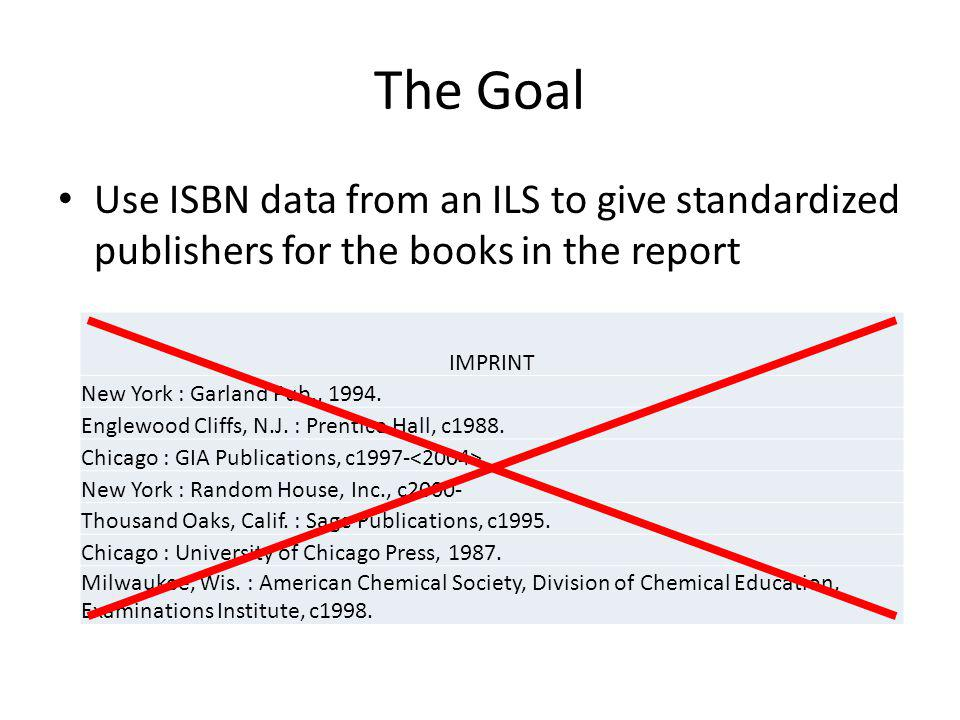 Brief Explanation: From the ISBN to the Publisher 0-00 through 0-19 represent particularly large publishers, because more numbers of the ISBN are left to distinguish individual books.