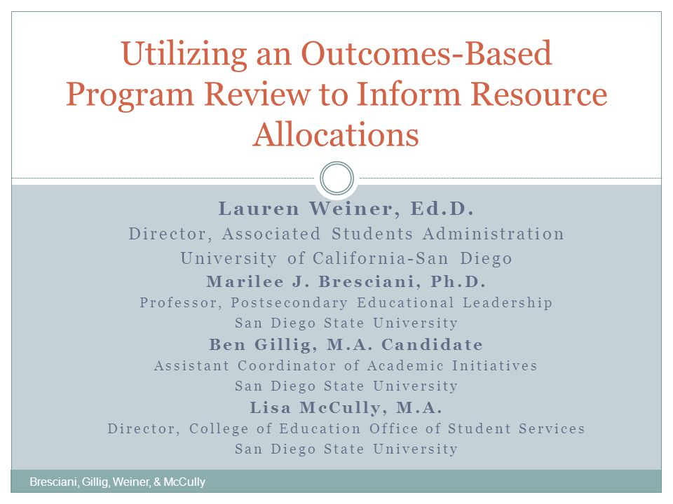 Session Overview Presentation of framing questions Review of research study Discussion of findings and application to practice Presentation of a preliminary framework Discussion with small groups Bresciani, Gillig, Weiner, & McCully