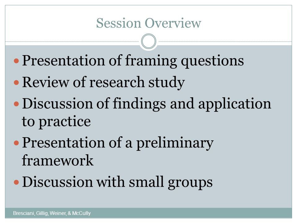 Framing Questions What evidence is used to inform your resource re-allocation or allocation processes.