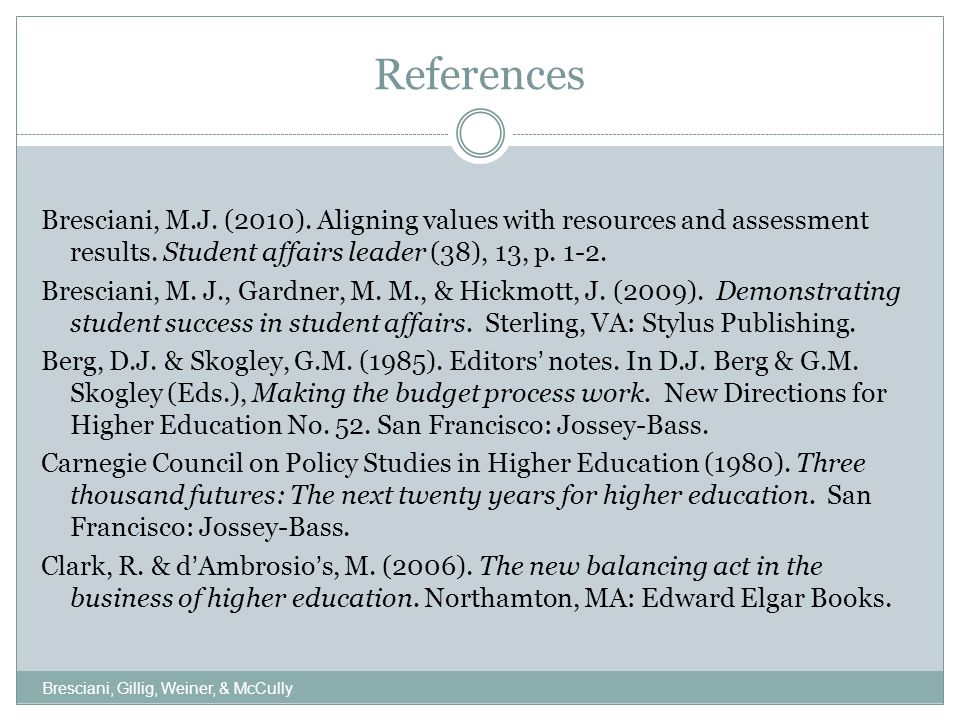 References, Cont.Merriam, S. B. (1998).