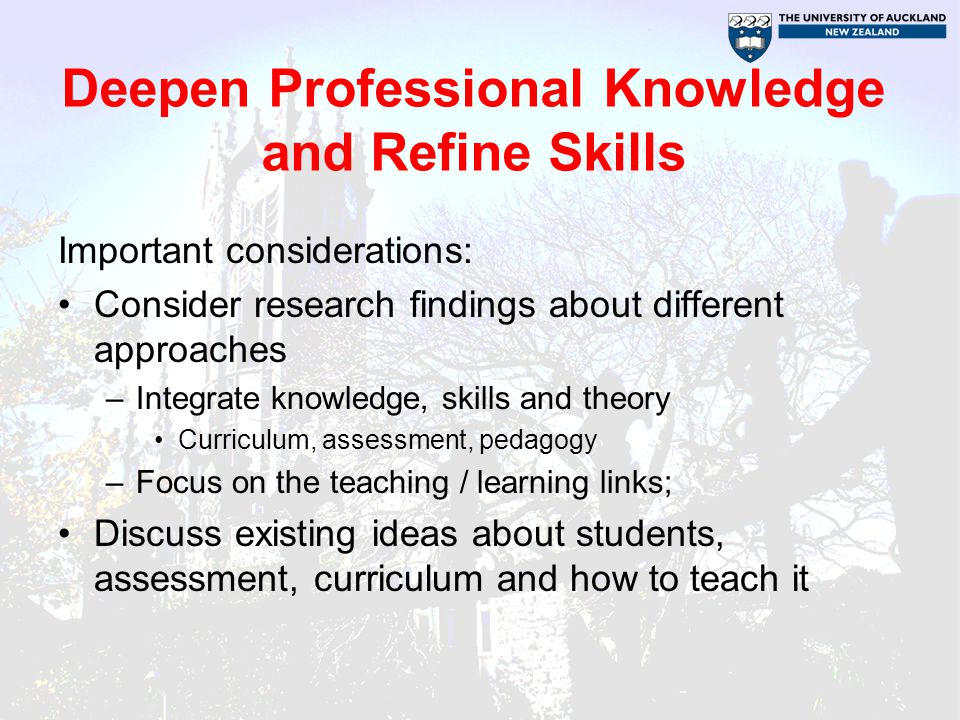 Three Fields of Knowledge (NCSL) What Is Known The knowledge from theory, research and best practice What We Know The knowledge of those involved.