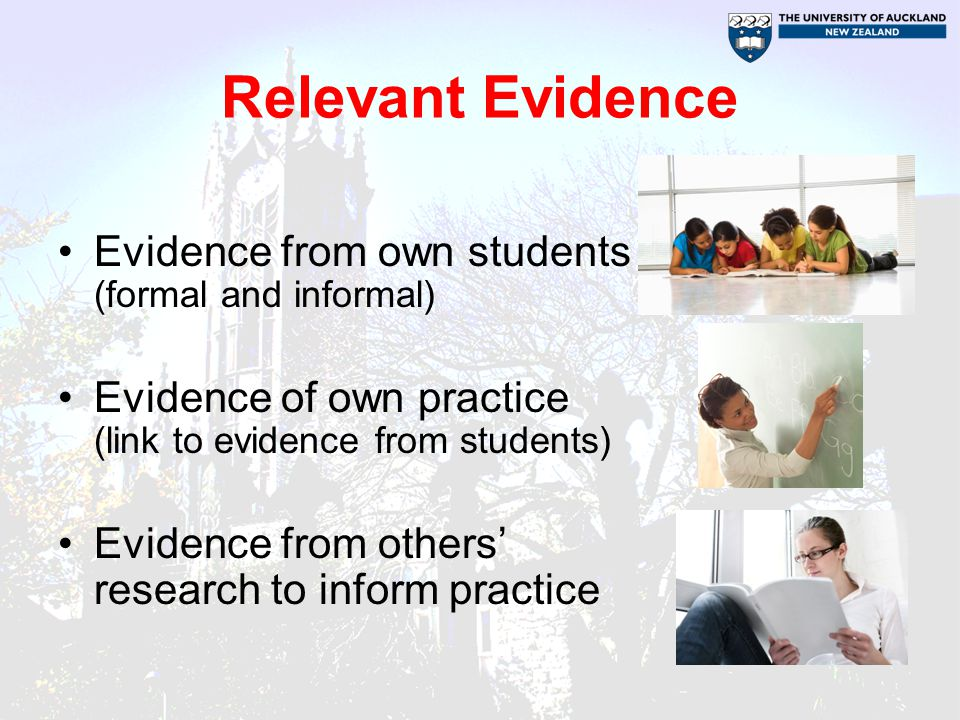 Beliefs, knowledge and skills of teachers Inquiry habit of mind –Evidence as a source of information for teaching and learning (not labels for students) Knowledge and skills –The meaning of the evidence for practice –Sufficient PCK from research to make relevant adjustments to practice