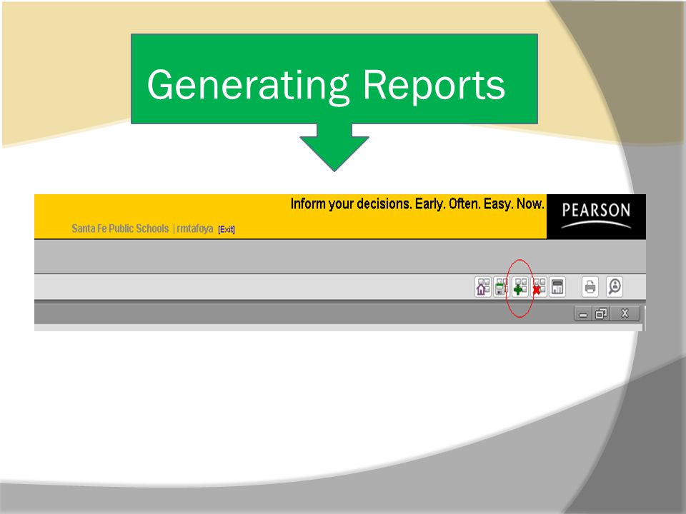 Generating Reports Cont.