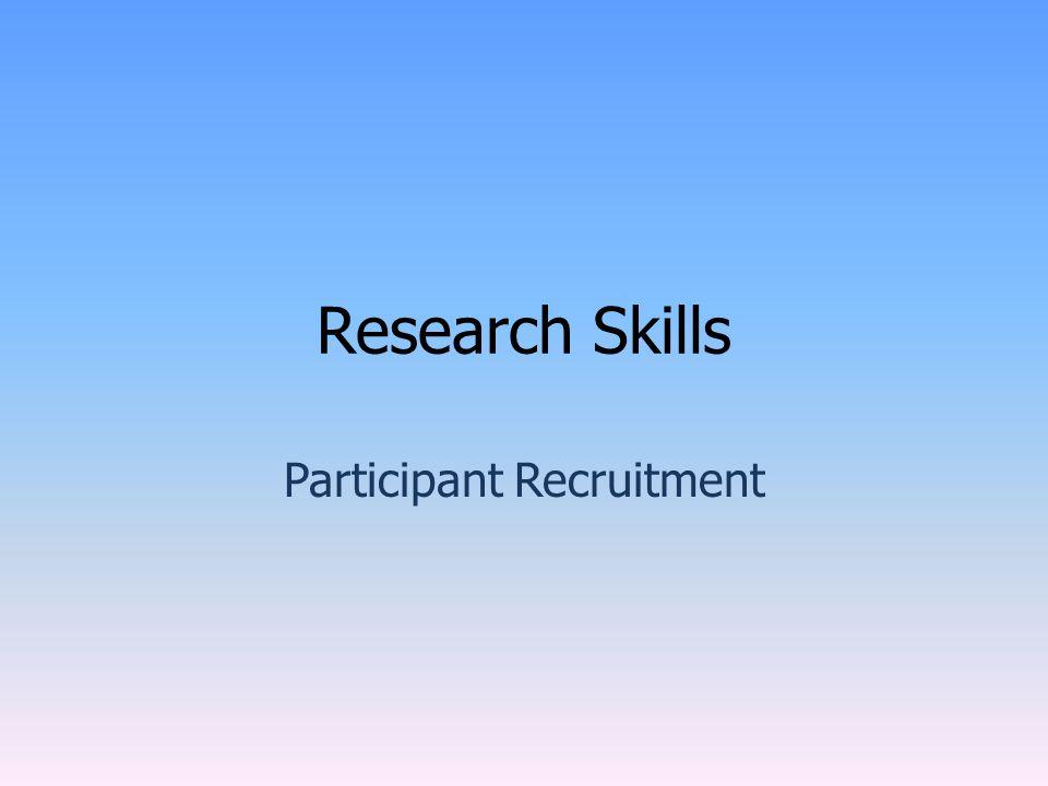 The Recruitment Process.