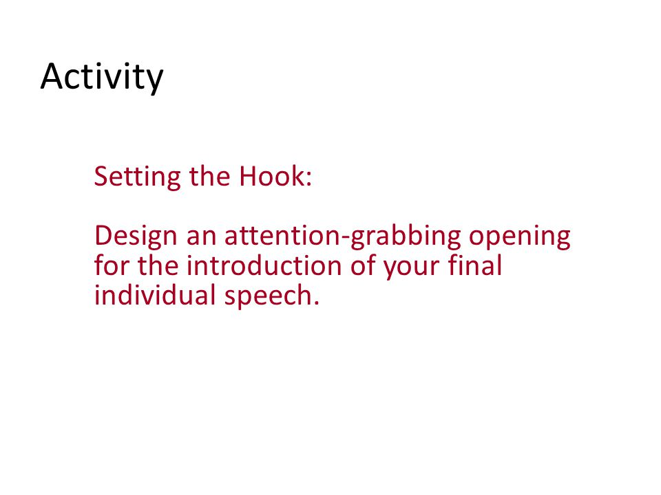 Organizing Your Speech Organizing and supporting the main points of your presentation Ordering your speech Connectives